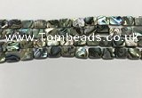CSB4151 15.5 inches 8*10mm rectangle abalone shell beads wholesale