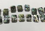 CSB4193 Top drilled 15*20mm rectangle double drilled balone shell beads