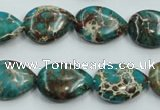 CSE11 15.5 inches 13*18mm flat teardrop natural sea sediment jasper beads
