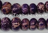 CSE303 15.5 inches 7*10mm – 15*20mm rondelle dyed sea sediment jasper beads