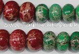 CSE305 15.5 inches 7*10mm – 15*20mm rondelle dyed sea sediment jasper beads