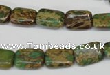 CSE5040 15.5 inches 10*14mm rectangle natural sea sediment jasper beads