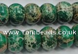 CSE61 15.5 inches 12*16mm rondelle dyed natural sea sediment jasper beads