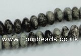 CSI05 15.5 inches 5*10mm rondelle silver scale stone beads wholesale