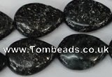 CSI106 15.5 inches 18*25mm flat teardrop silver scale stone beads
