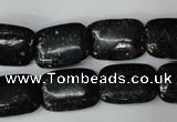 CSI114 15.5 inches 13*18mm rectangle silver scale stone beads