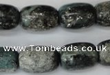 CSI65 15.5 inches 13*18mm drum silver scale stone beads wholesale