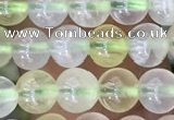 CSJ318 15.5 inches 4mm round serpentine new jade beads