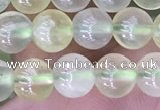 CSJ319 15.5 inches 6mm round serpentine new jade beads
