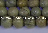 CSL203 15.5 inches 10mm round silver leaf jasper beads wholesale