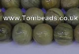 CSL204 15.5 inches 12mm round silver leaf jasper beads wholesale