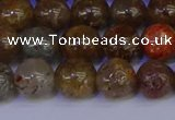 CSL223 15.5 inches 10mm round gold leaf jasper beads wholesale