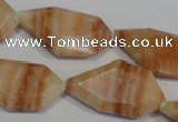 CSL85 15.5 inches 17*32mm freefrom silver leaf jasper beads wholesale