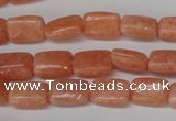 CSM18 15.5 inches 8*12mm rectangle salmon stone beads wholesale