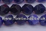 CSO553 15.5 inches 10mm faceted nuggets sodalite gemstone beads