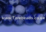 CSO623 15.5 inches 10mm faceted round AB grade sodalite beads