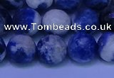 CSO624 15.5 inches 12mm faceted round AB grade sodalite beads