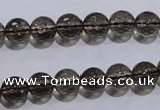 CSQ103 15.5 inches 8mm faceted round grade AA natural smoky quartz beads