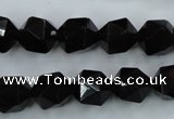 CSQ354 15.5 inches 12mm faceted nuggets smoky quartz beads