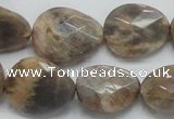 CSS111 15.5 inches faceted freeform natural sunstone beads wholesale