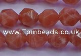 CSS683 15.5 inches 10mm faceted nuggets natural sunstone beads