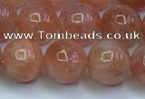 CSS715 15.5 inches 9mm round natural golden sunstone beads