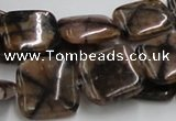 CST10 15.5 inches 18*18mm square staurolite gemstone beads wholesale