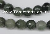 CSW14 15.5 inches 10mm faceted round seaweed quartz beads wholesale
