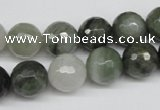 CSW15 15.5 inches 12mm faceted round seaweed quartz beads wholesale
