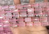 CTB203 15.5 inches 10*15mm faceted tube rose quartz beads