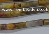 CTB316 15.5 inches 4*13mm tube crazy lace agate beads wholesale