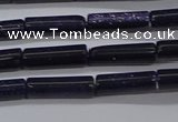 CTB329 15.5 inches 4*13mm tube blue goldstone beads wholesale
