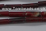CTB333 15.5 inches 4*13mm tube brecciated jasper beads wholesale