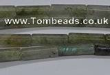 CTB353 15.5 inches 4*13mm tube labradorite beads wholesale