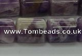 CTB502 15.5 inches 10*13mm triangle dogtooth amethyst beads wholesale