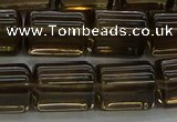 CTB505 15.5 inches 10*13mm triangle smoky quartz beads wholesale