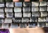 CTB656 15.5 inches 12*16mm faceted tube labradorite beads