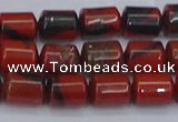 CTB708 15.5 inches 6*8mm tube red jasper beads wholesale