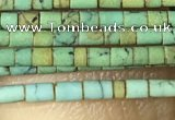 CTB802 15.5 inches 1mm tube turquoise beads wholesale