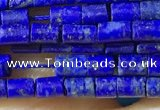 CTB807 15.5 inches 2*4mm tube lapis lazuli beads wholesale