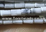CTB811 15.5 inches 2*4mm tube white howlite beads wholesale