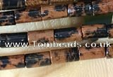 CTB817 15.5 inches 2*4mm tube mahogany obsidian beads wholesale