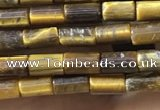CTB823 15.5 inches 2*4mm tube yellow tiger eye beads wholesale