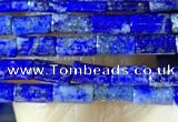CTB825 15.5 inches 2*4mm tube lapis lazuli beads wholesale