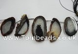CTD1531 Top drilled 30*55mm - 40*65mm freeform agate slab beads