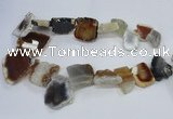 CTD1553 Top drilled 18*25mm - 30*45mm freeform agate slab beads