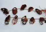 CTD1565 Top drilled 30*45mm - 35*60mm freeform agate slab beads