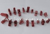 CTD1651 Top drilled 10*20mm - 15*40mm freeform druzy agate beads