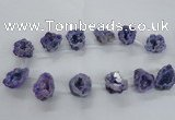 CTD1682 Top drilled 15*25mm - 30*35mm nuggets druzy agate beads