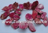 CTD1776 Top drilled 25*30mm - 40*50mm freeform sediment jasper beads